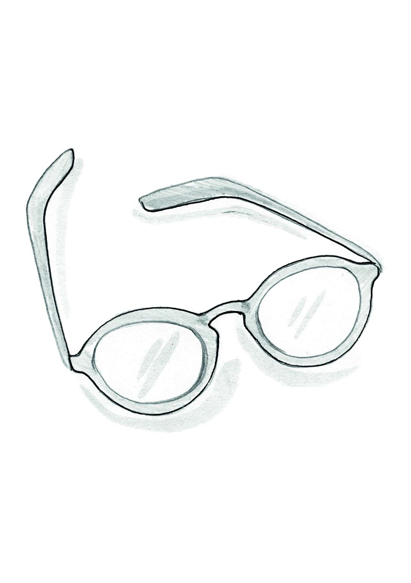 """Gudrun"" reading glasses petrol blue"