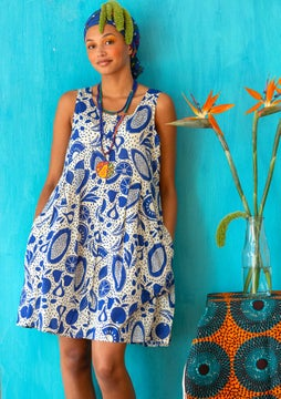 Marimba woven dress klein blue