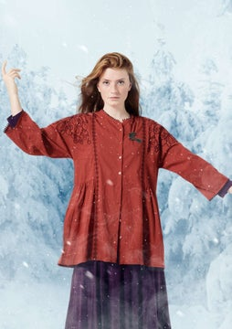 Bluse Elin madder red