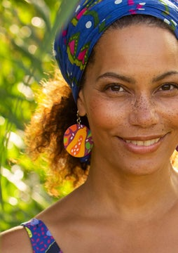 Botswana earrings cerise