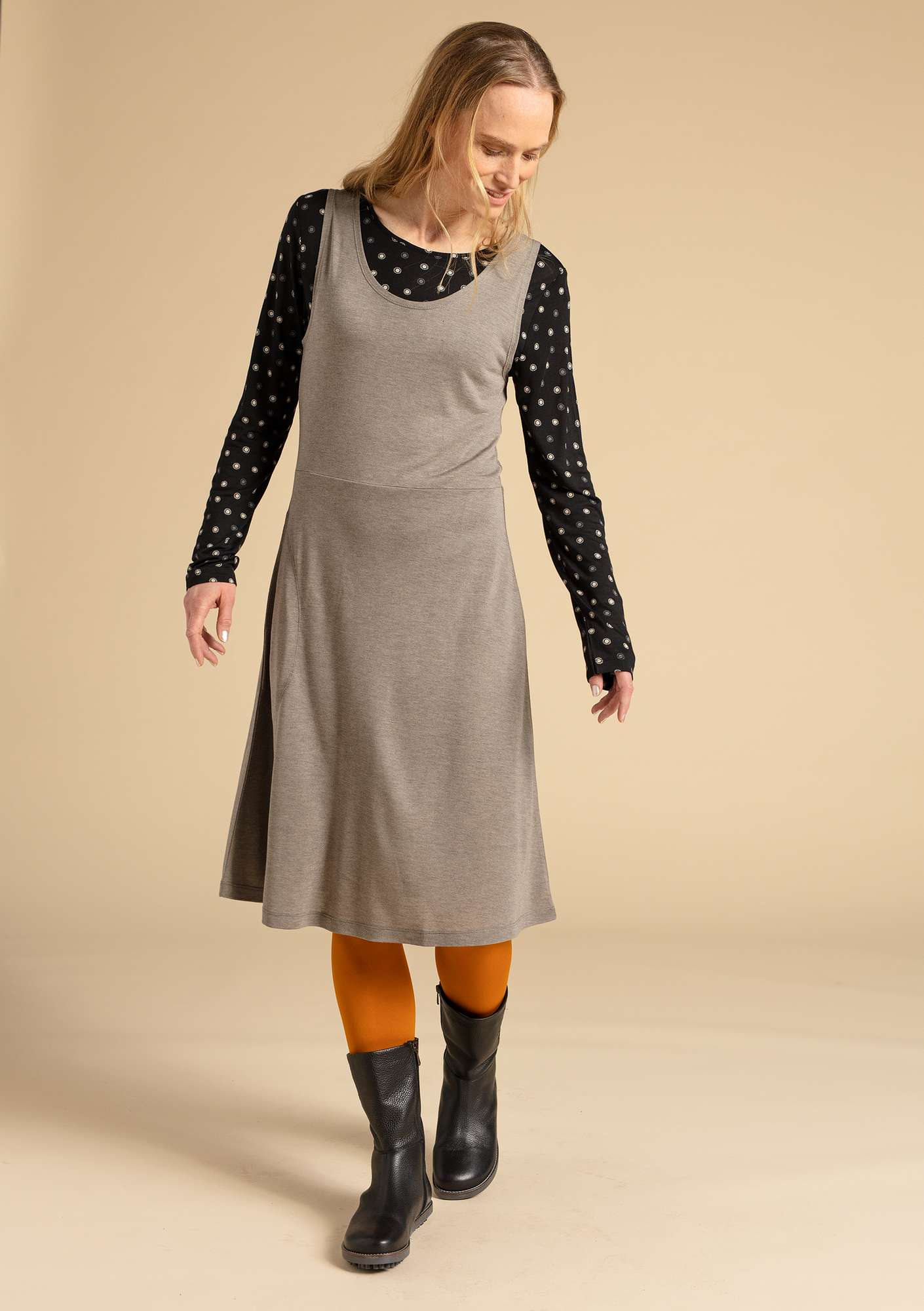 """Twinkle"" dress in modal nature gray"