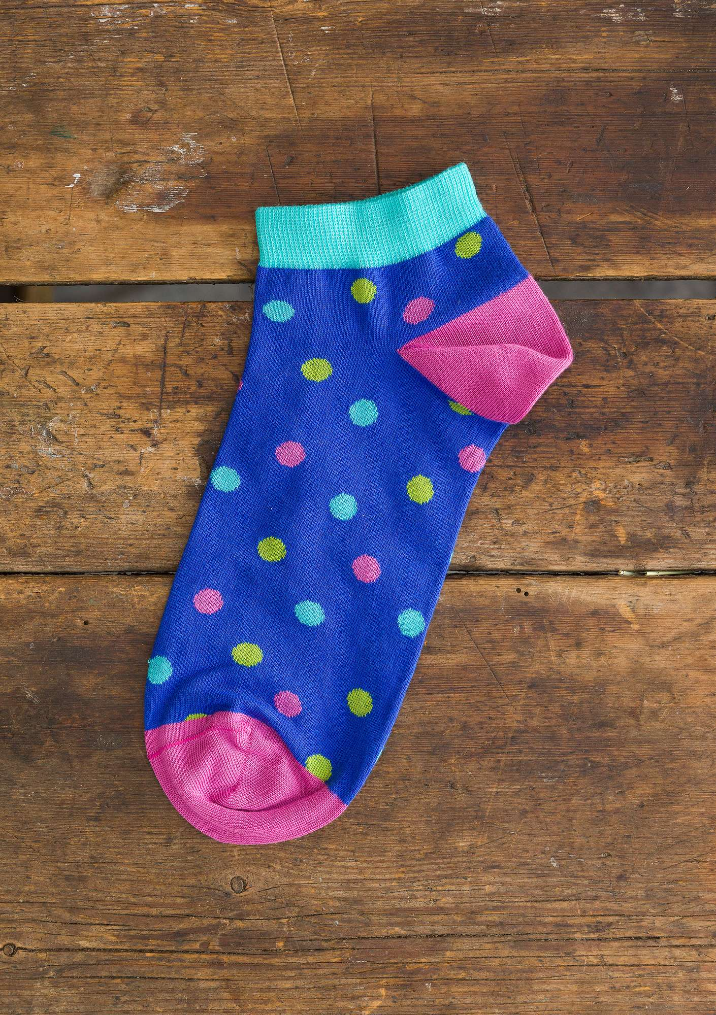 """Belle"" ankle socks in organic cotton klein blue"