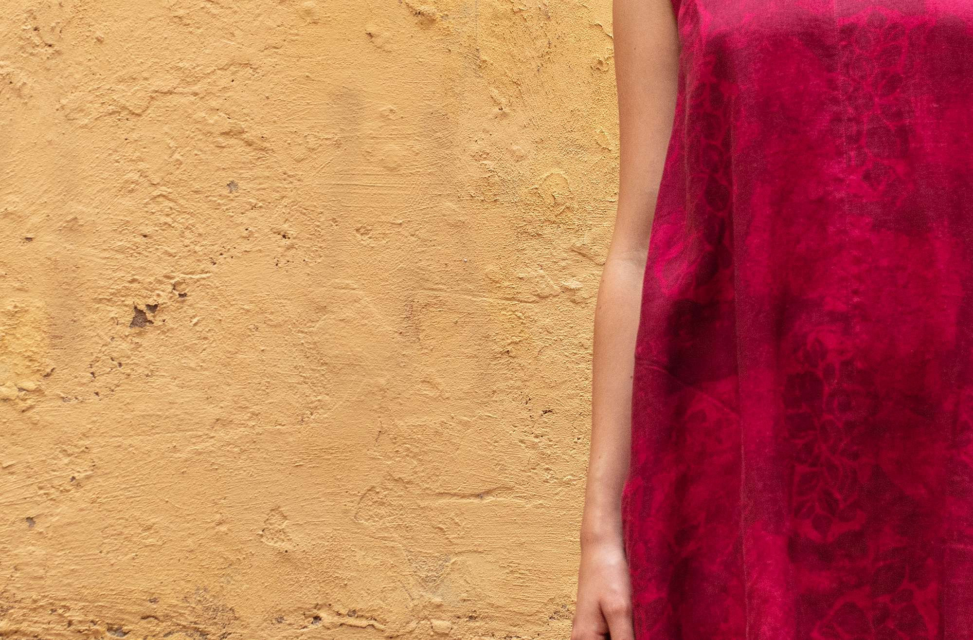 """Claudia"" linen dress dark hibiscus"