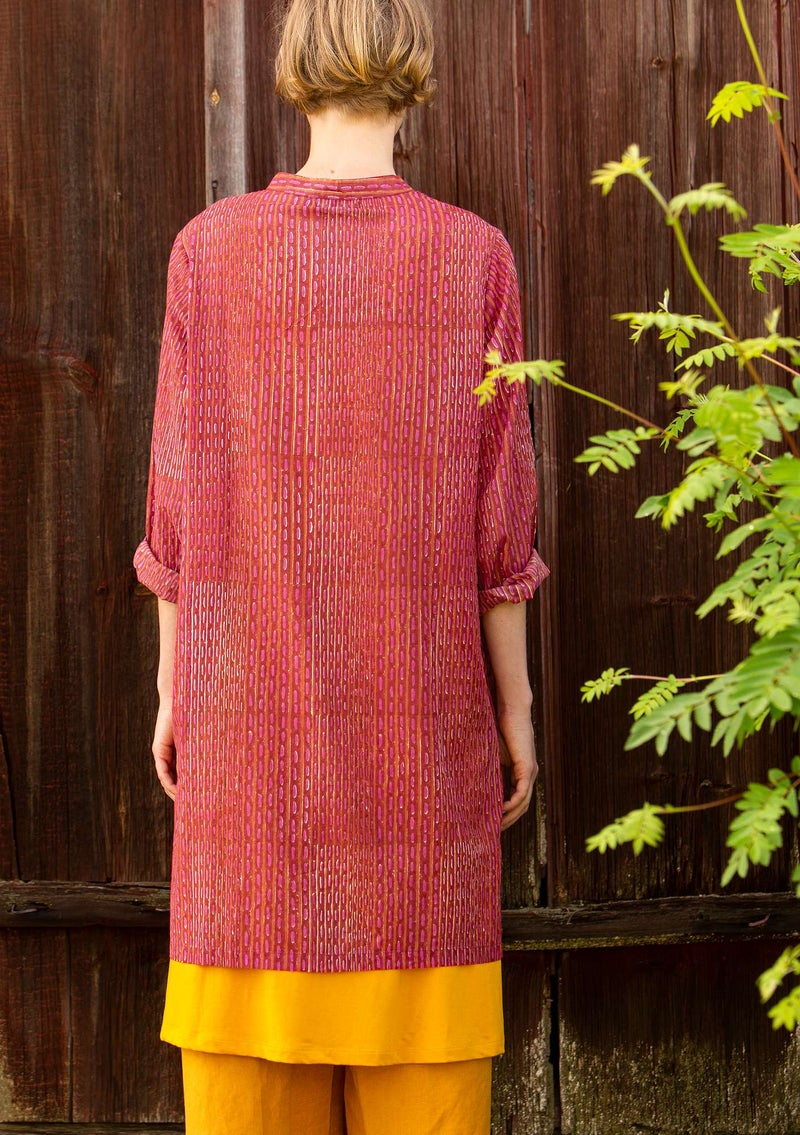 """Kurta"" organic cotton long shirt hibiscus"