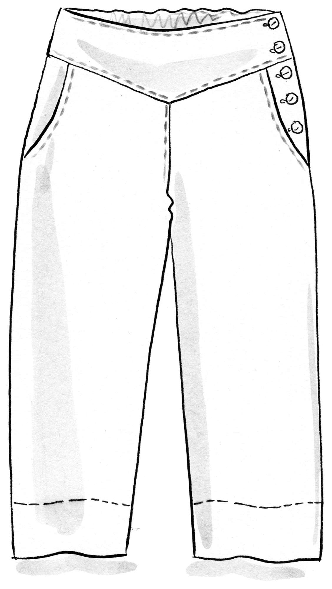 Slacks in linen/cotton