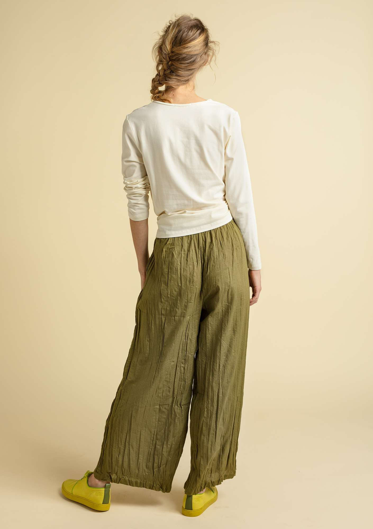 """Grekland"" trousers in organic cotton eucalyptus"