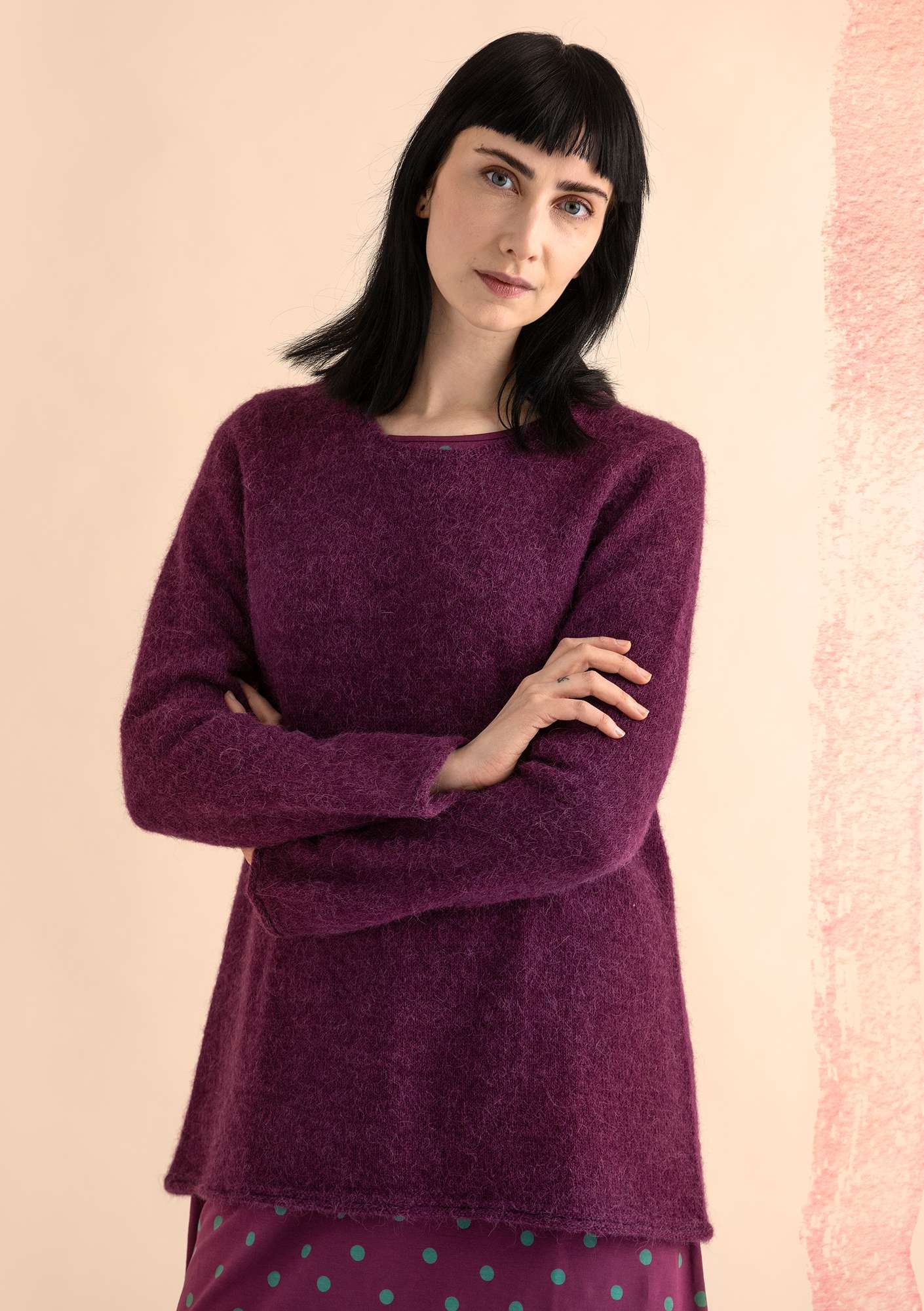 FAVOURITE alpaca-blend sweater grape