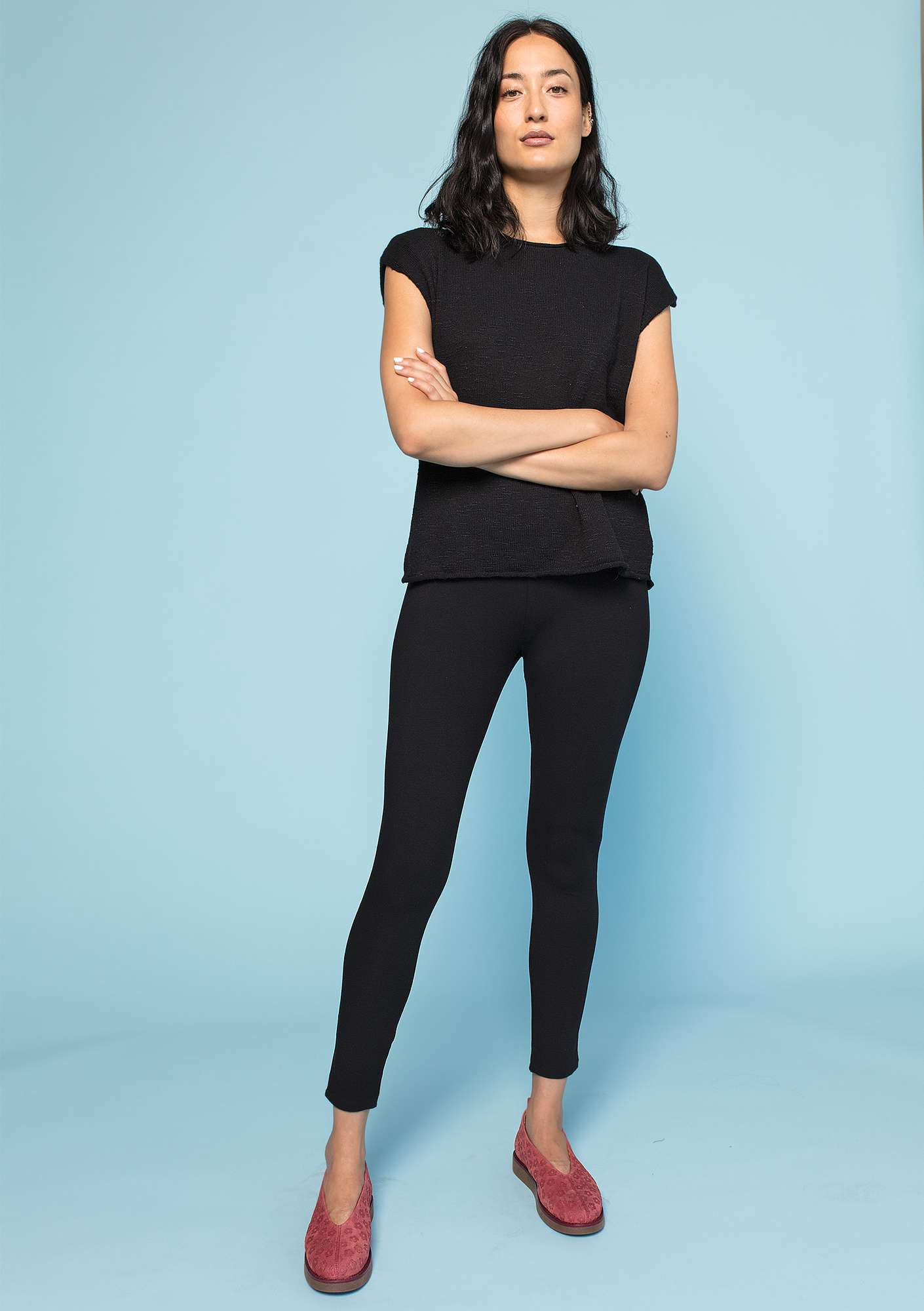 """Minerva"" leggings in organic cotton/elastane black"