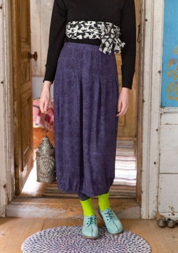 Aqua skirt dusky purple