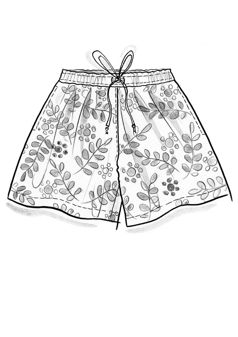 """Waterlily"" organic cotton shorts ecru"
