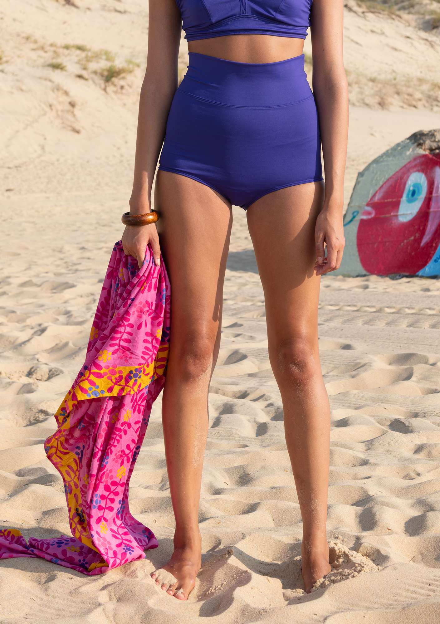 """Waterlily"" bikini bottoms in polyamide/elastane amethyst"