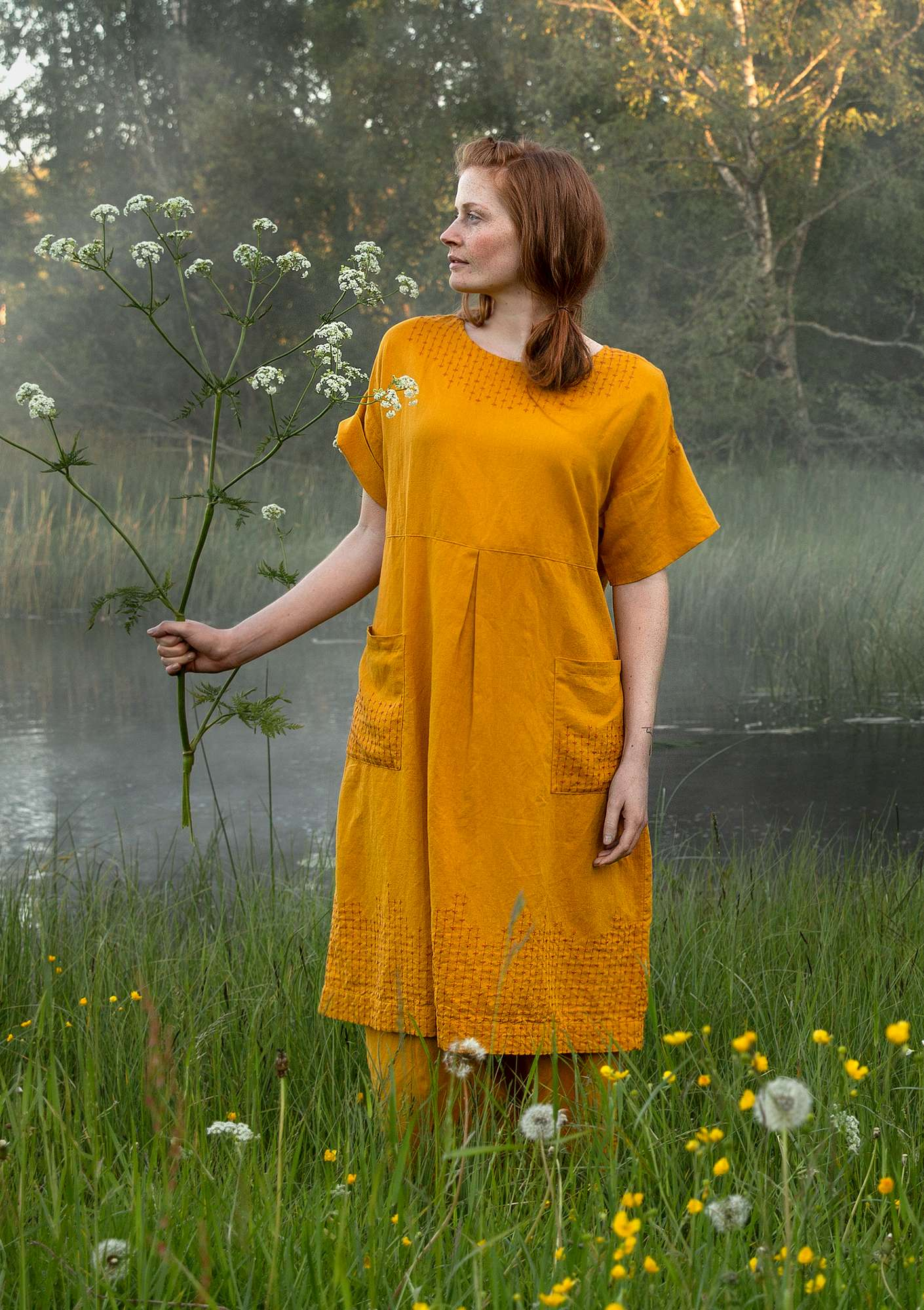 Mineral dress goldochre