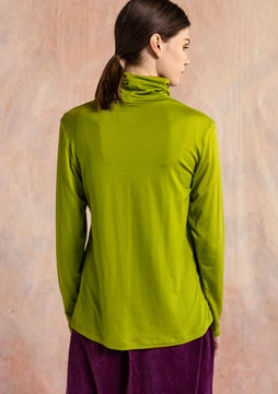 Solid-colour polo-neck asparagus