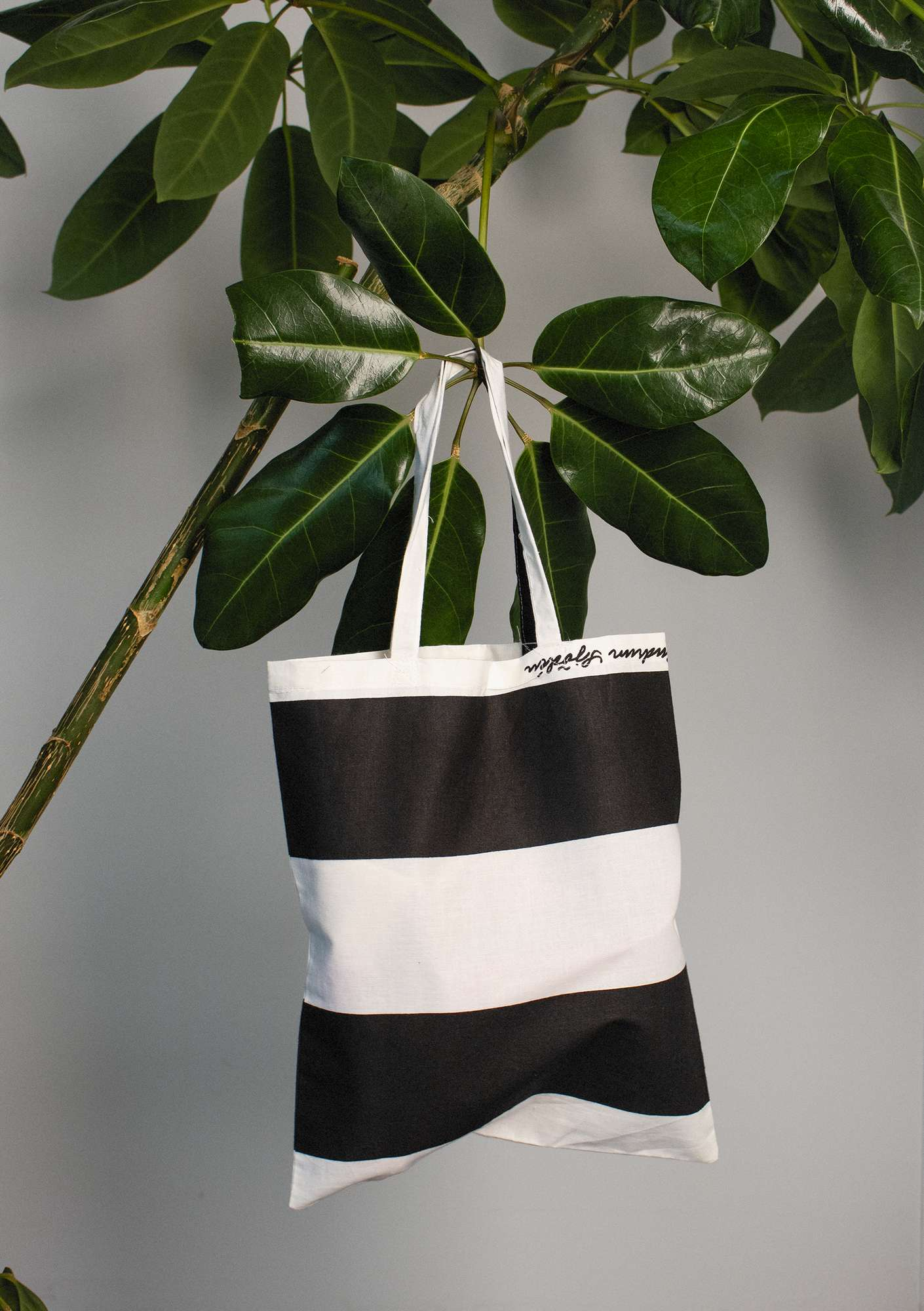 Organic cotton fabric tote bag S black