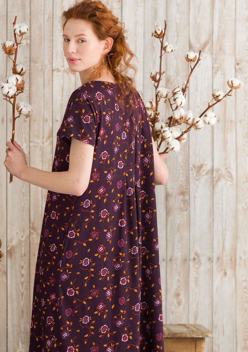 """Vanja"" dress in organic cotton heather/patterned"