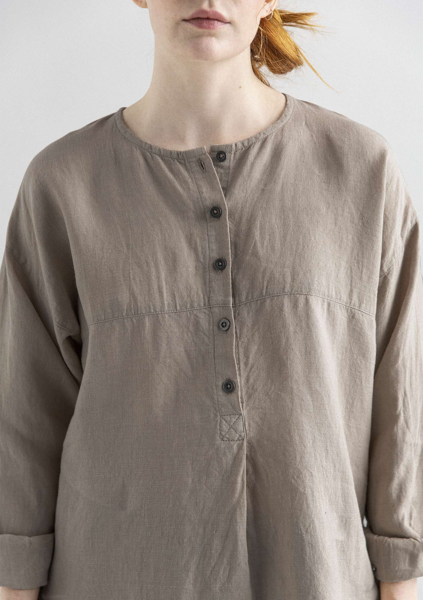 NICE shirt in linen dark nature