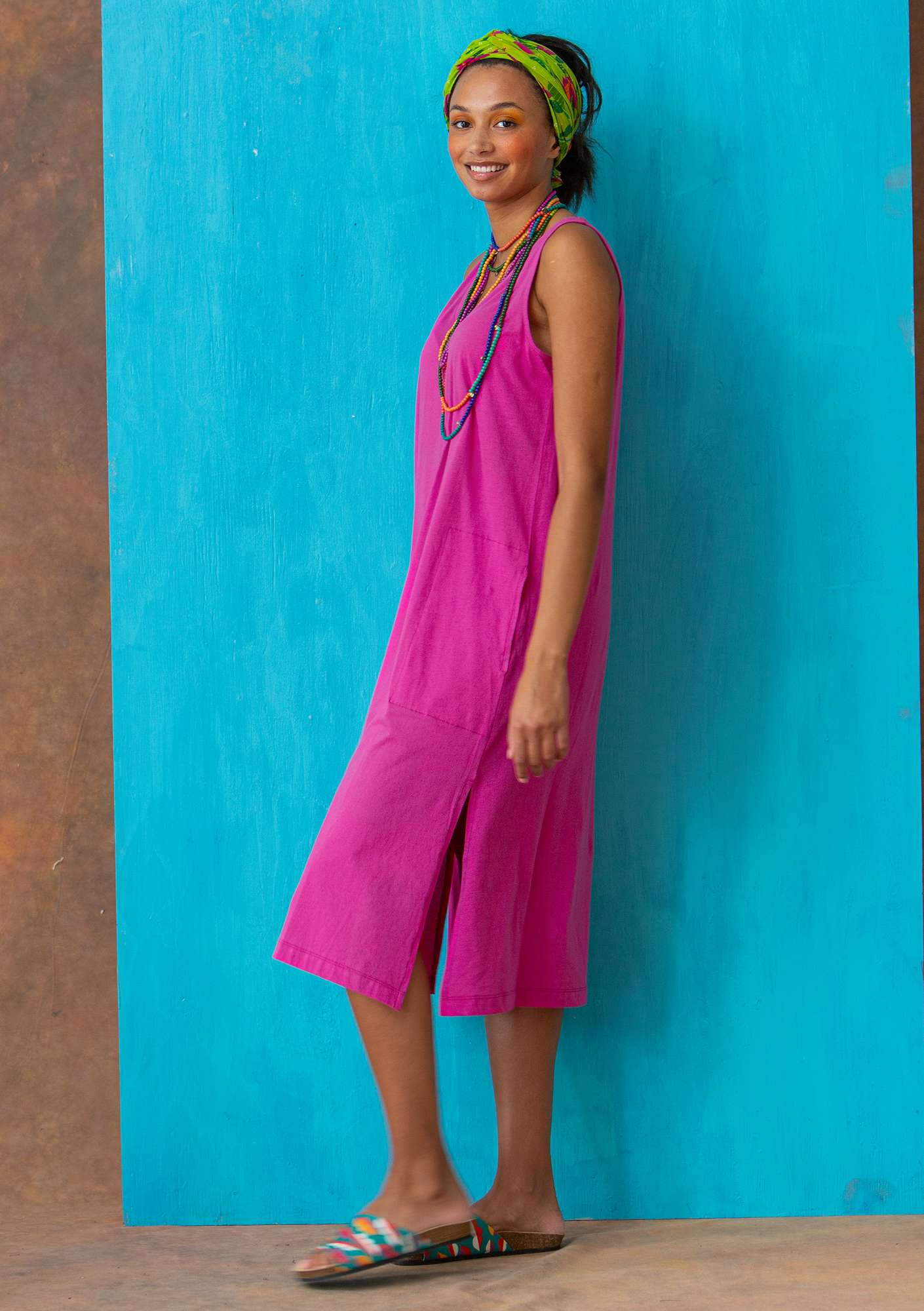 Jersey dress  hibiscus