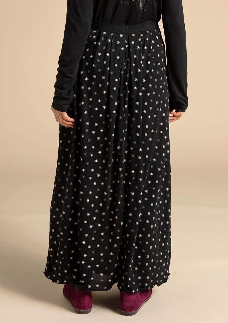 """Twinkle"" modal skirt black/patterned"