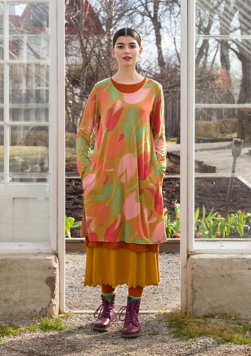 """Botanica"" modal jersey dress curry"
