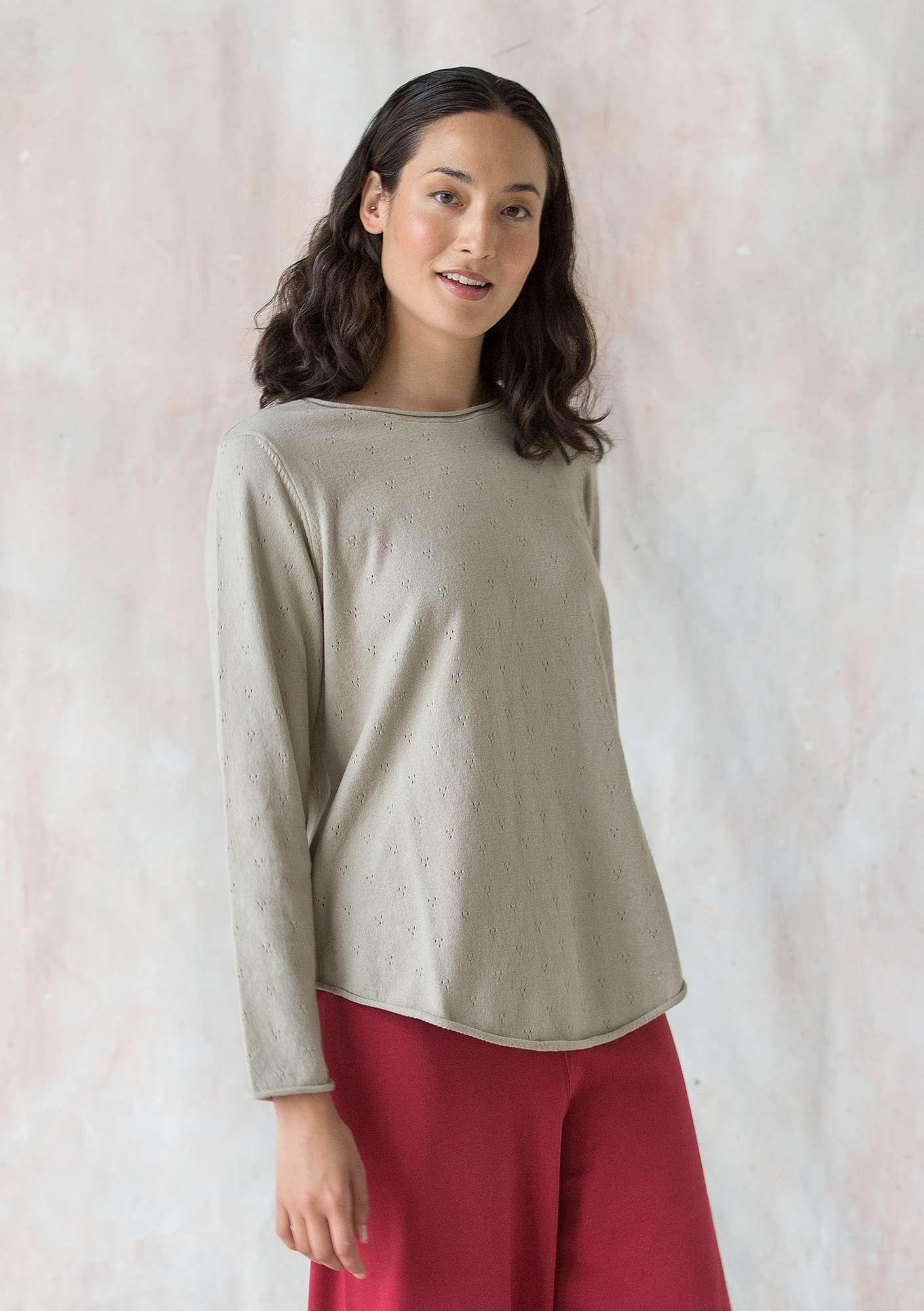 c1a480be956 Pointellestrikket trøje i økobomuld | Gudrun Sjödén