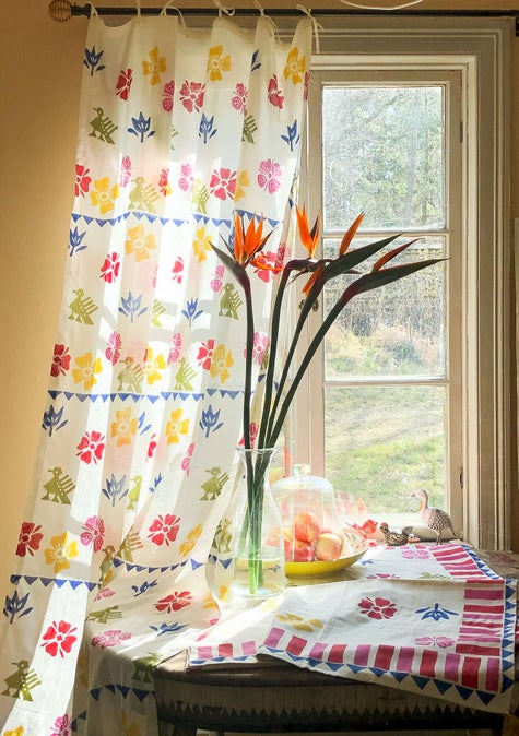 Paloma curtain. multicoloured