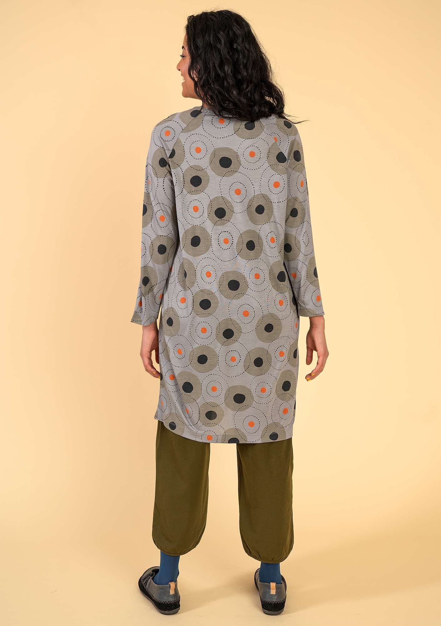 """Halo"" modal tunic. gray"