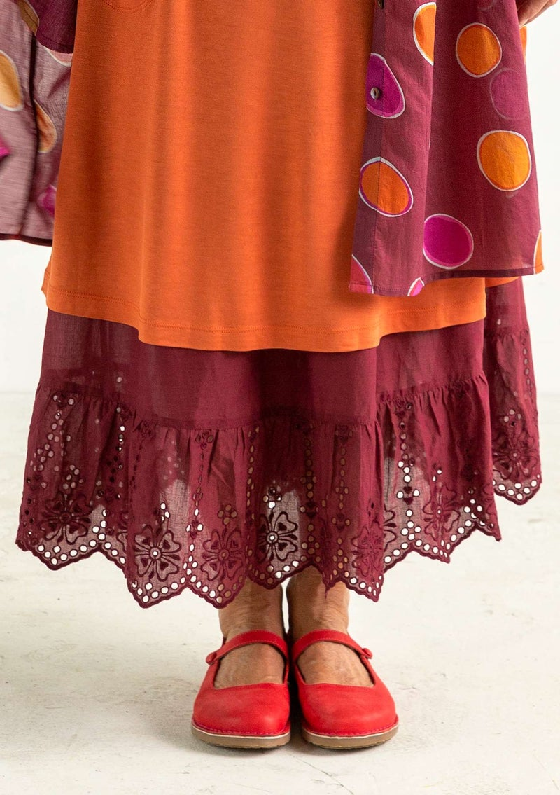 Organic/recycled cotton underskirt burgundy