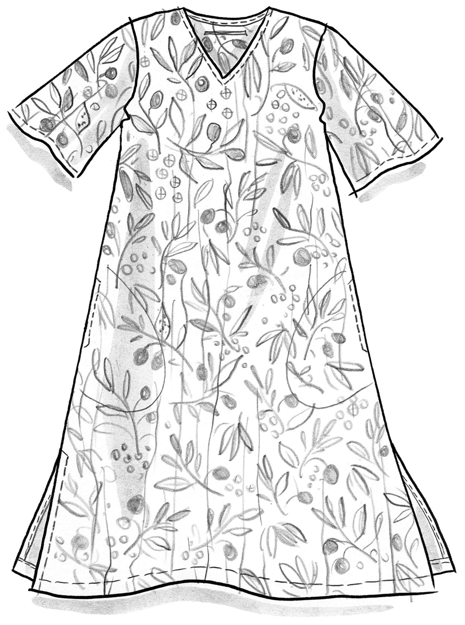 """Olivia"" dress in eco-cotton"