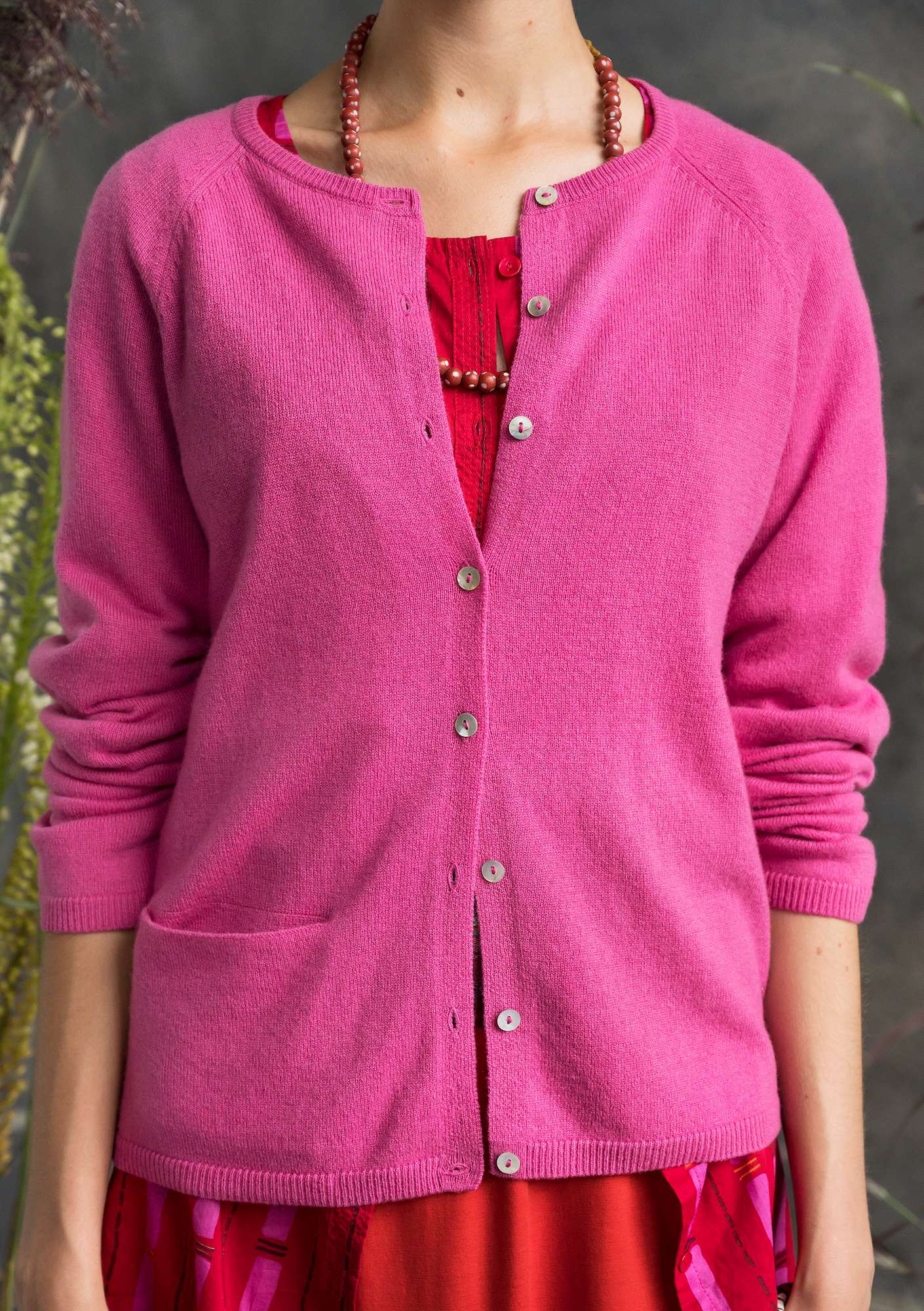Lovable cashmere cardigan hibiscus