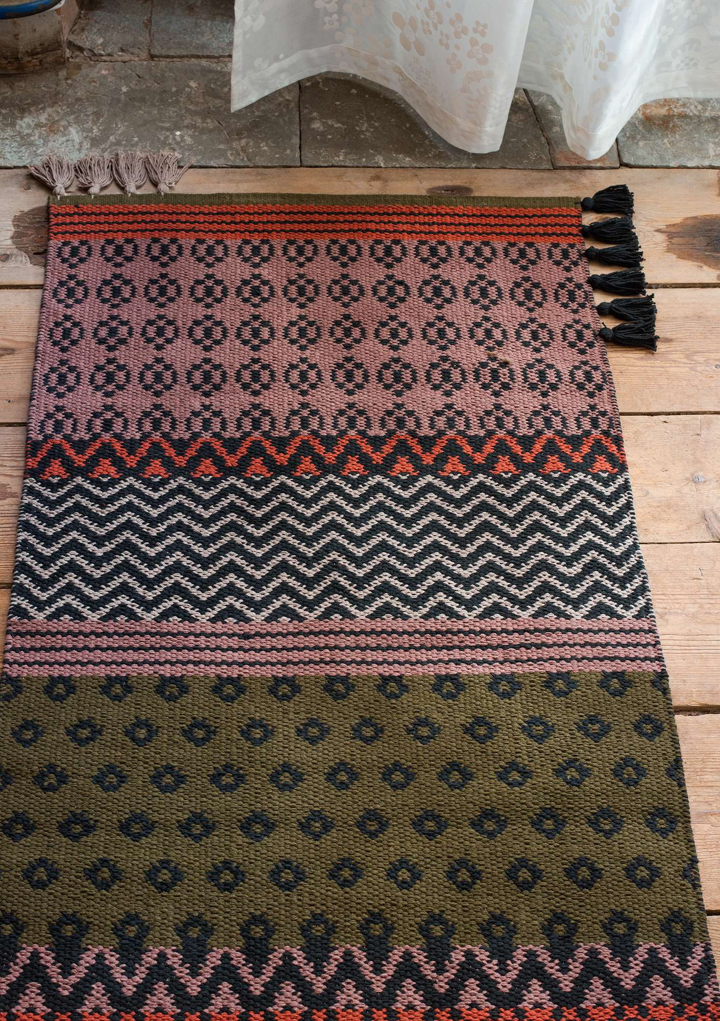 """Boda"" eco-cotton rug dark ash gray"