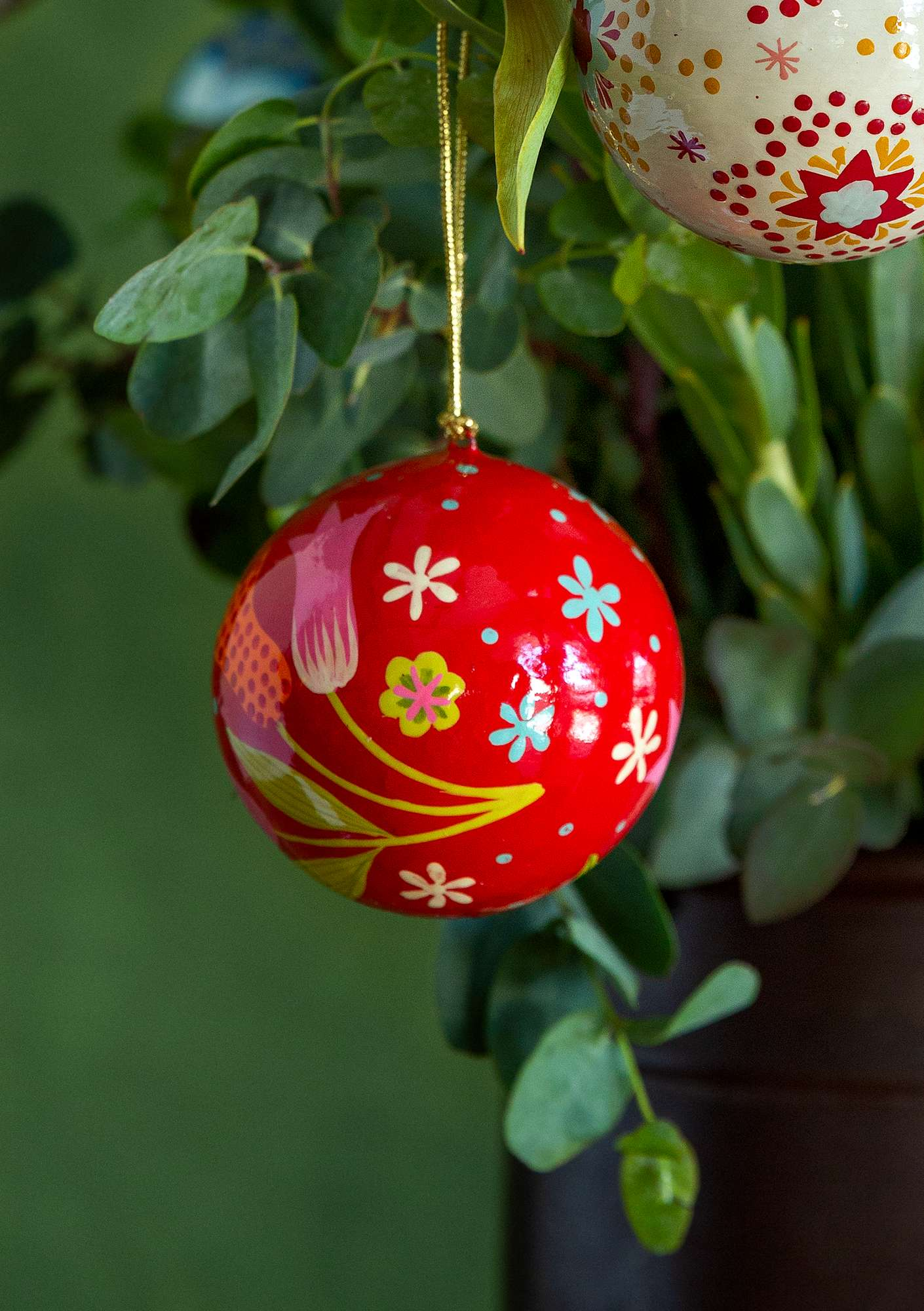 Papier maché holiday ornament tomato