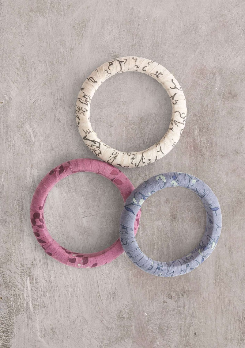 """Melodie"" organic cotton/recycled wood bracelet heather"