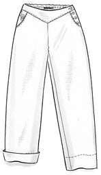 Organic cotton/linen trousers