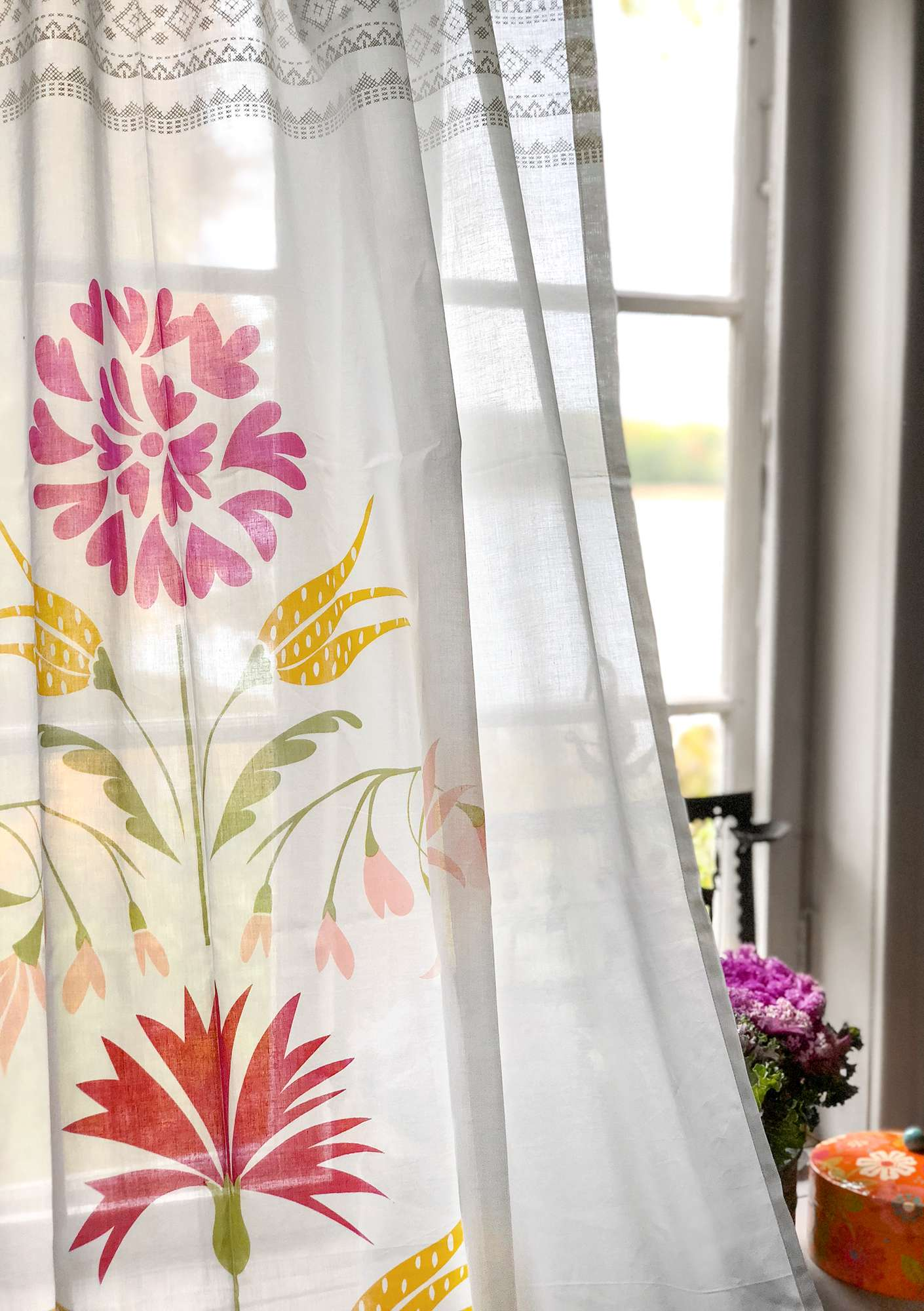 """Laguna"" eco-cotton curtain multi-color"
