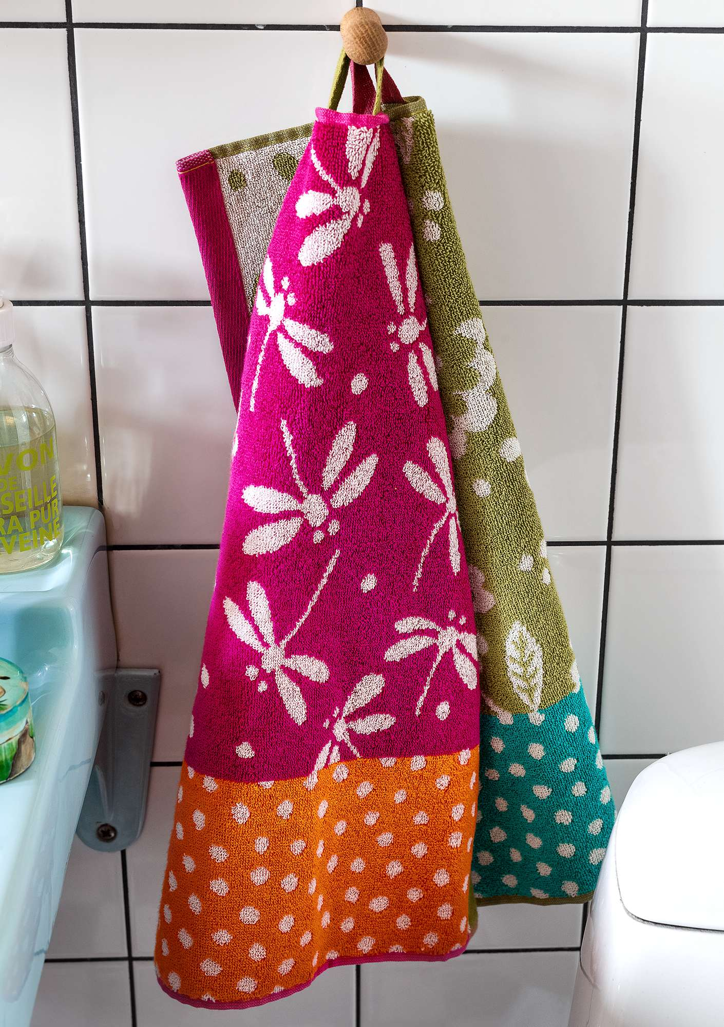 """Okinawa"" eco-cotton guest towel 2-pack water lily"