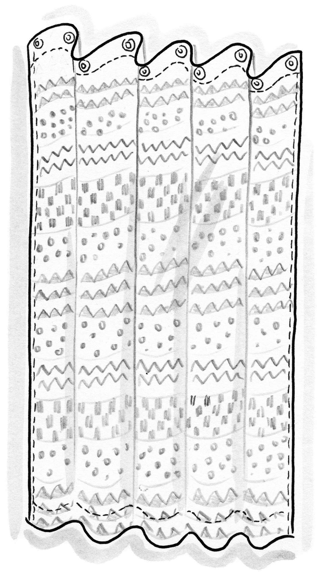 """Spegling"" shower curtain in eco-cotton"