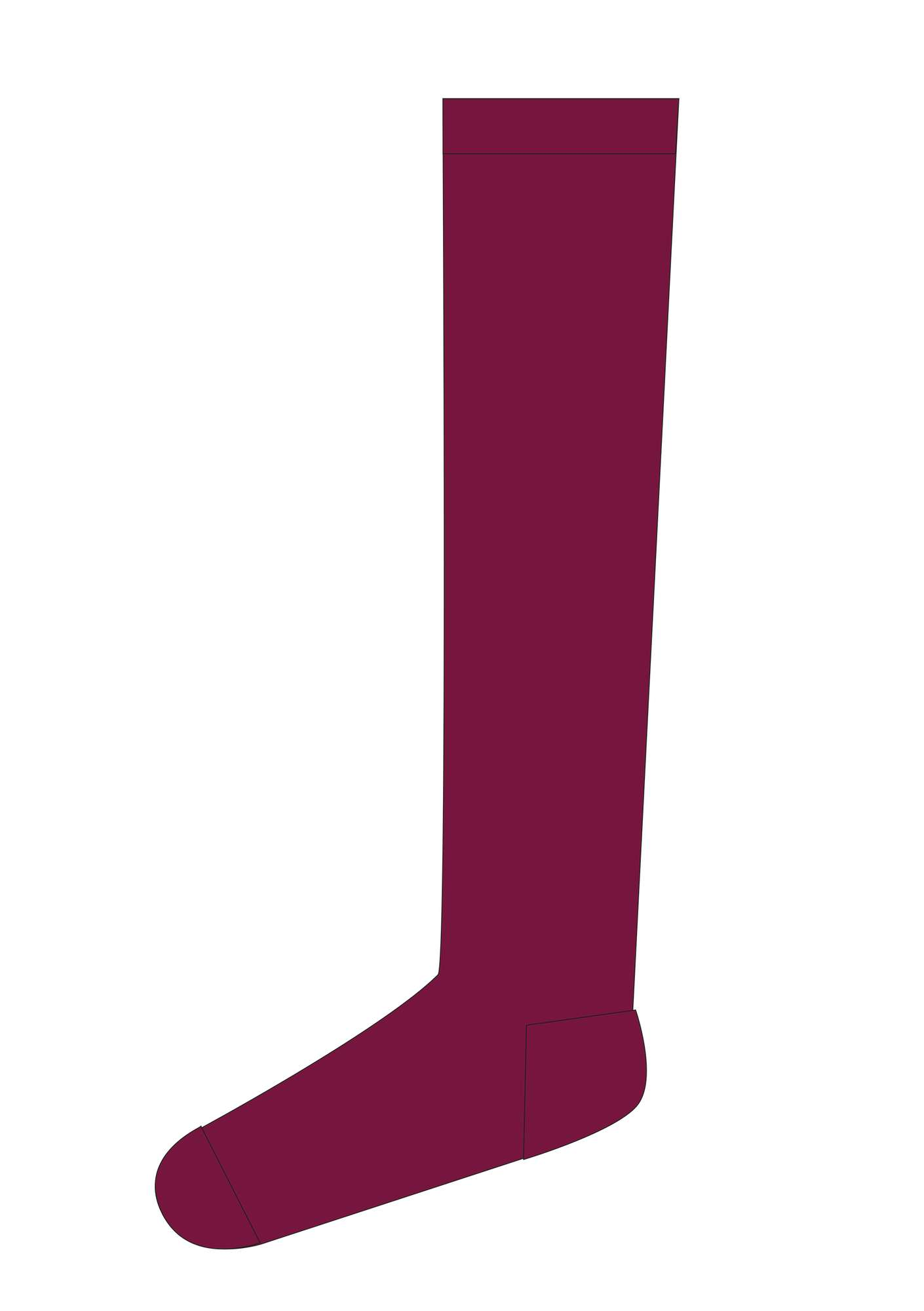 Knee-highs in recycled polyamide rosewood