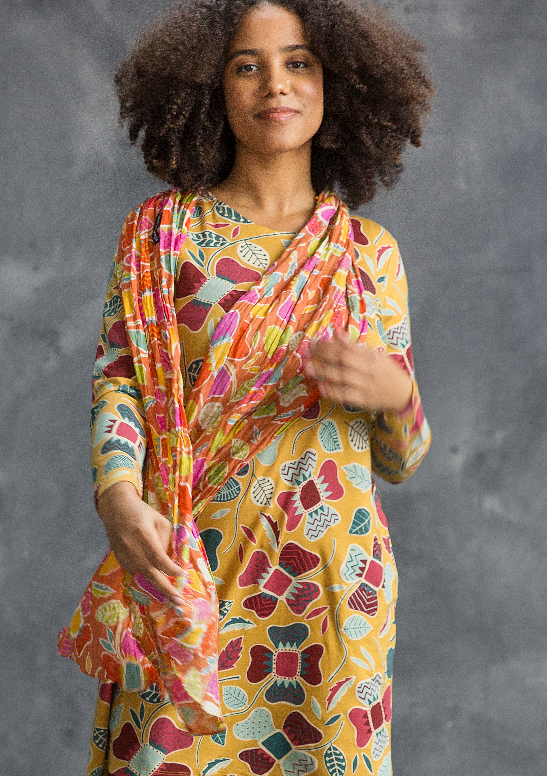 """Wanja"" cotton shawl multicoloured"