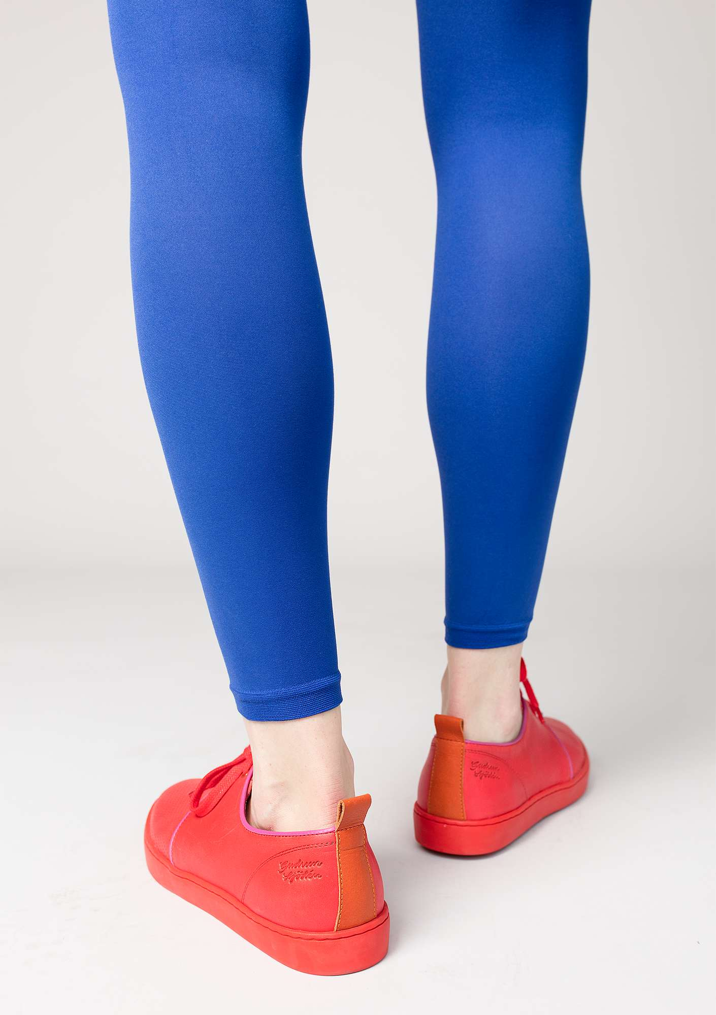 Leggings in recycled polyamide klein blue