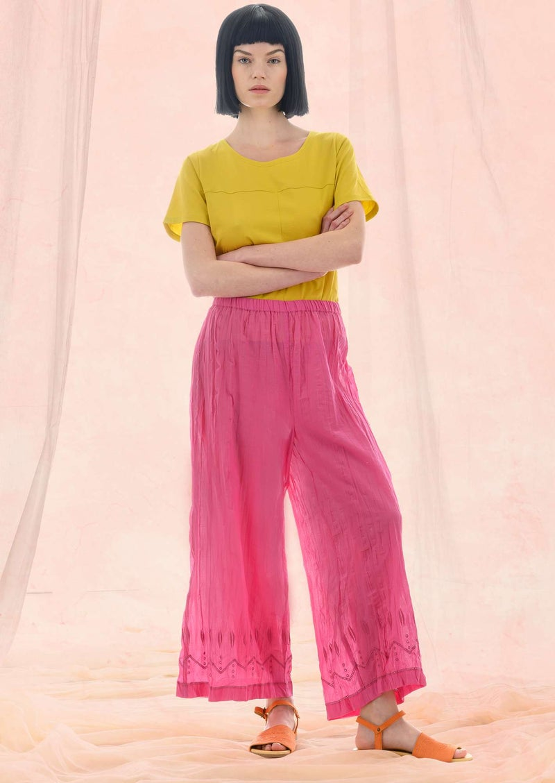 """Fantasia"" organic cotton trousers peony"