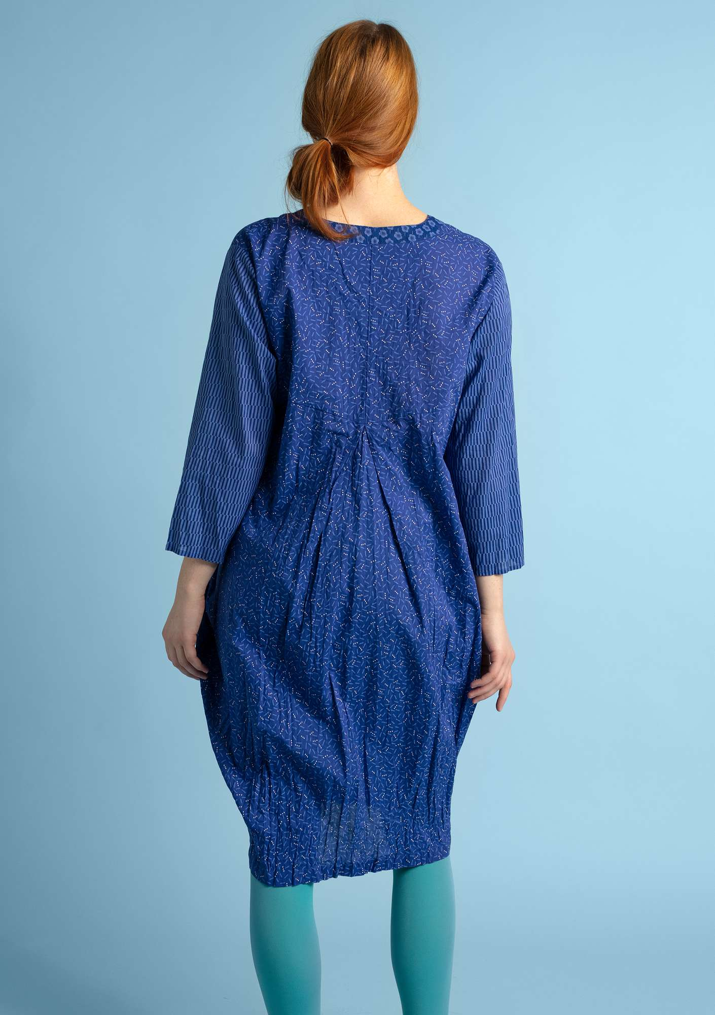 """Pinje"" dress in eco-cotton violet"