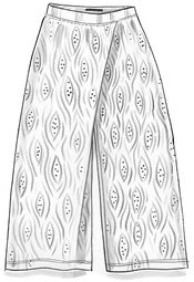 """Zebra"" jersey pants in organic cotton/modal/spandex"