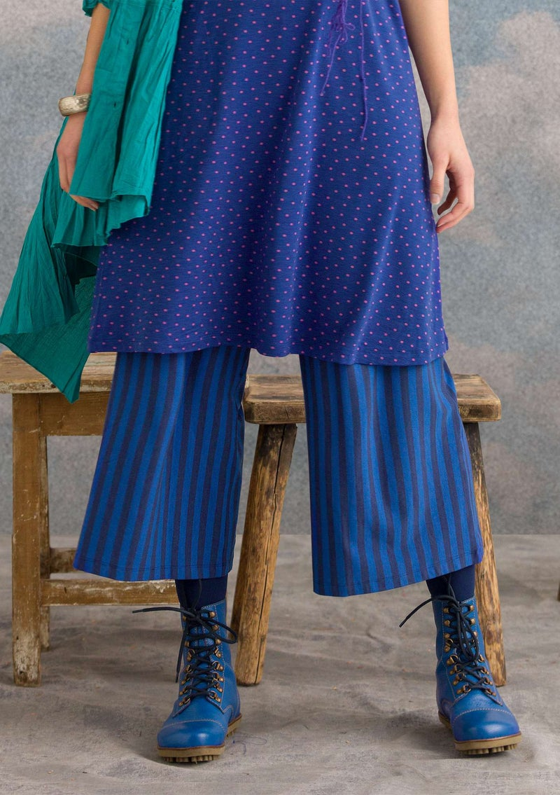 Pants in modal/cotton/spandex midnight blue/cobalt blue