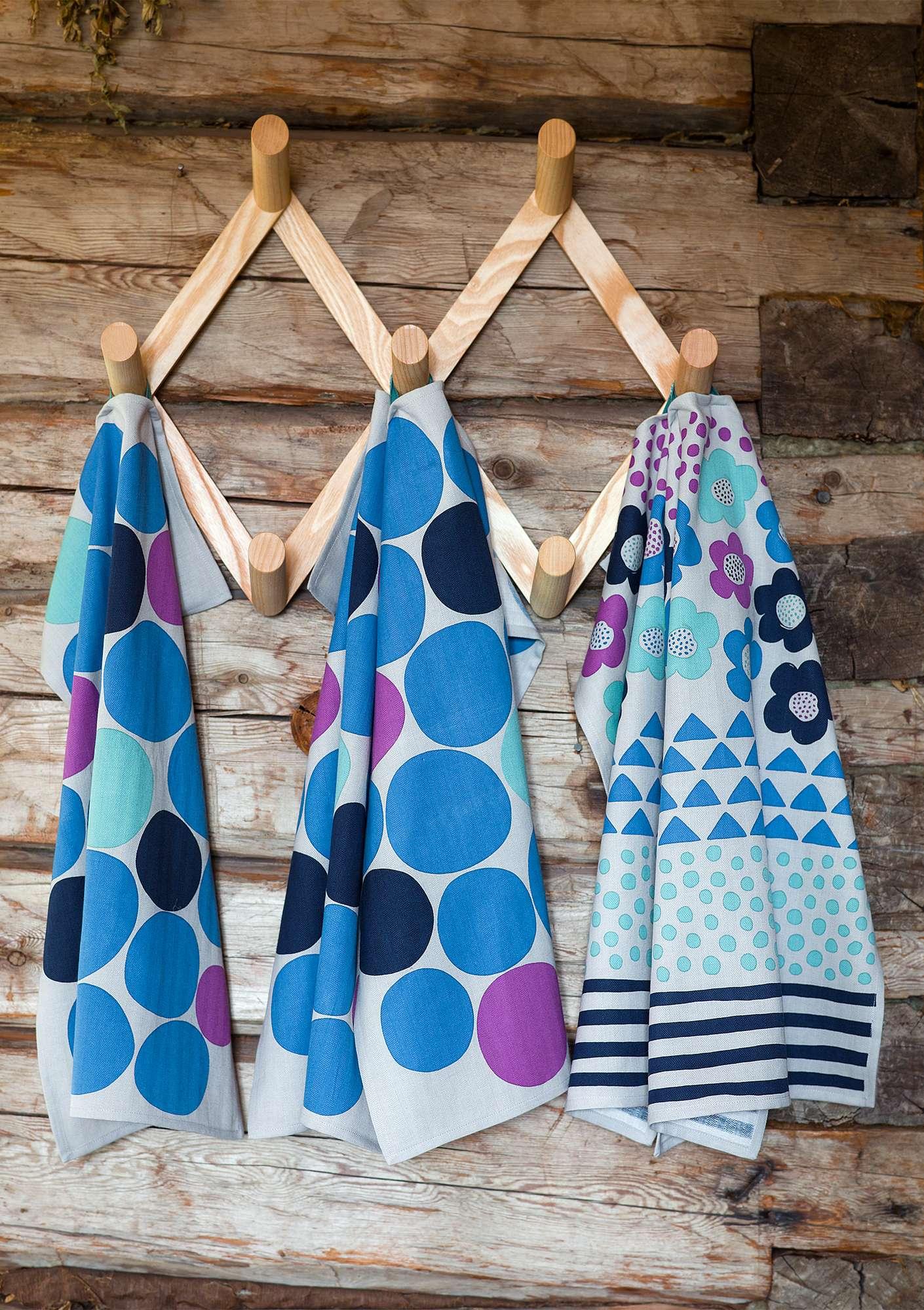 U201cRöseu201d Eco Cotton Kitchen Towel 2 Pack Porcelain Blue. U201c