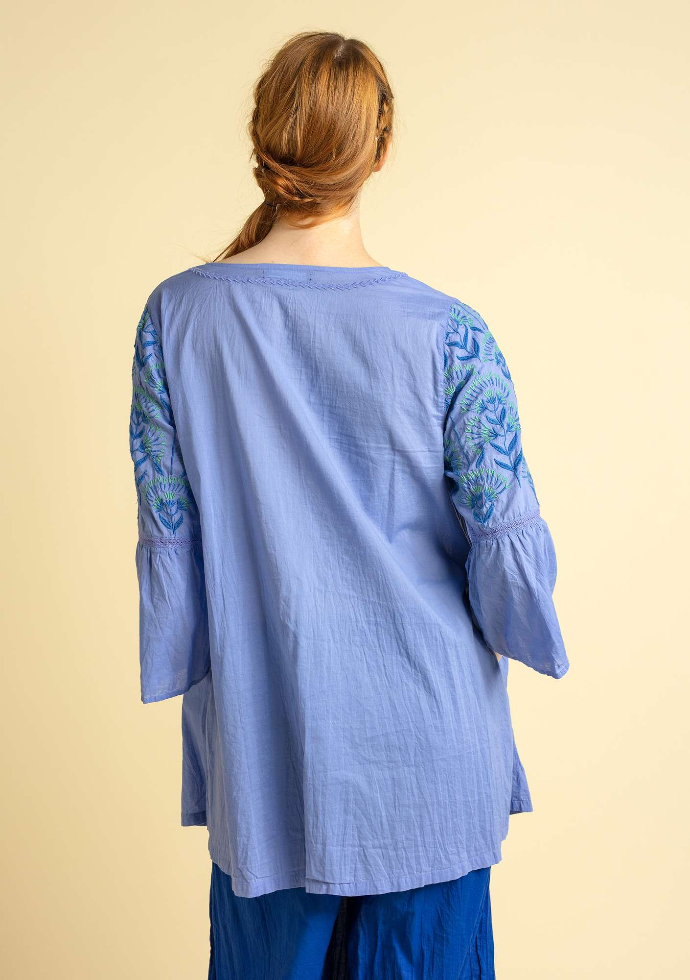 """Oregano"" tunic in organic cotton lavender"