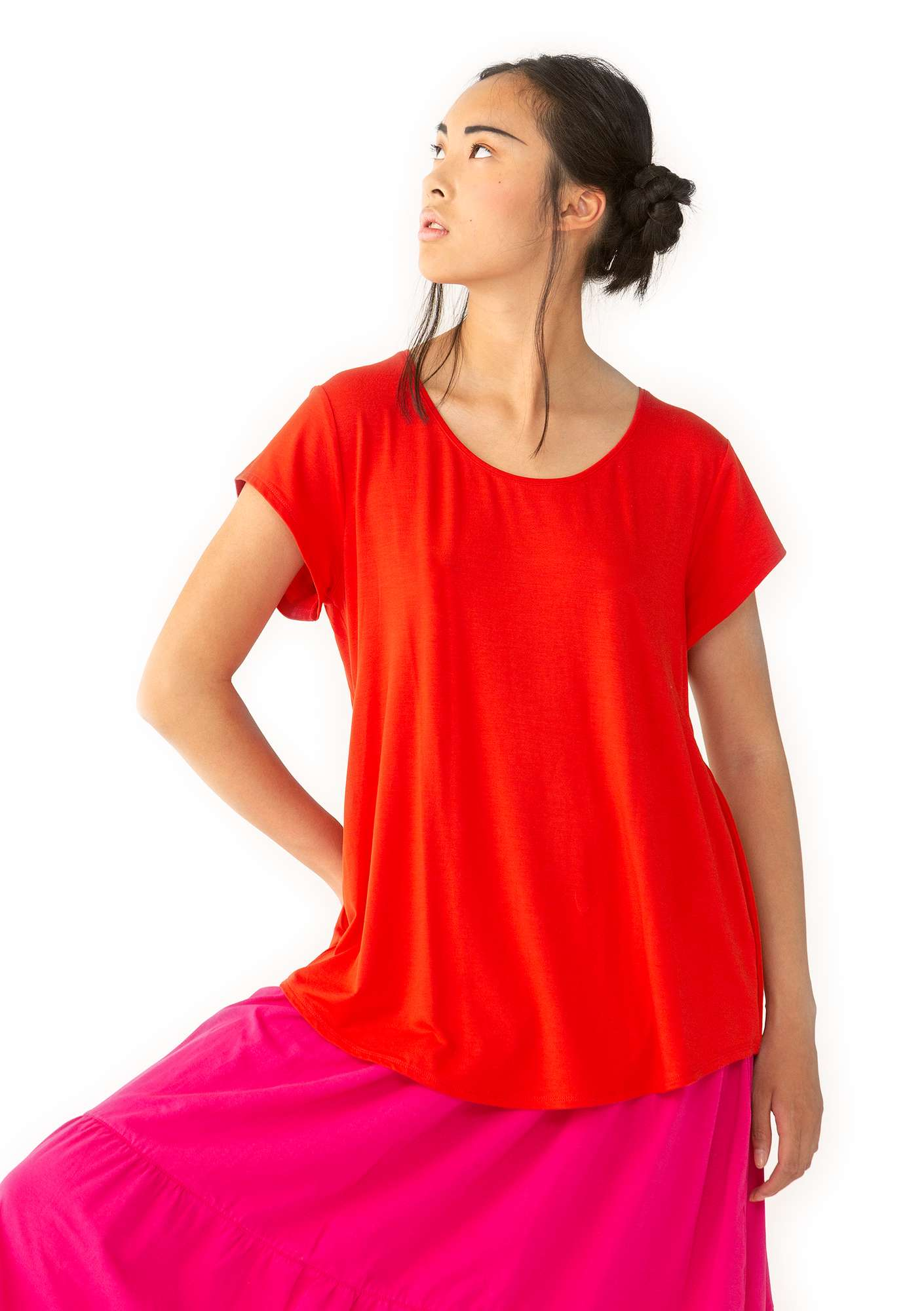 Top Molly Dolly bright red