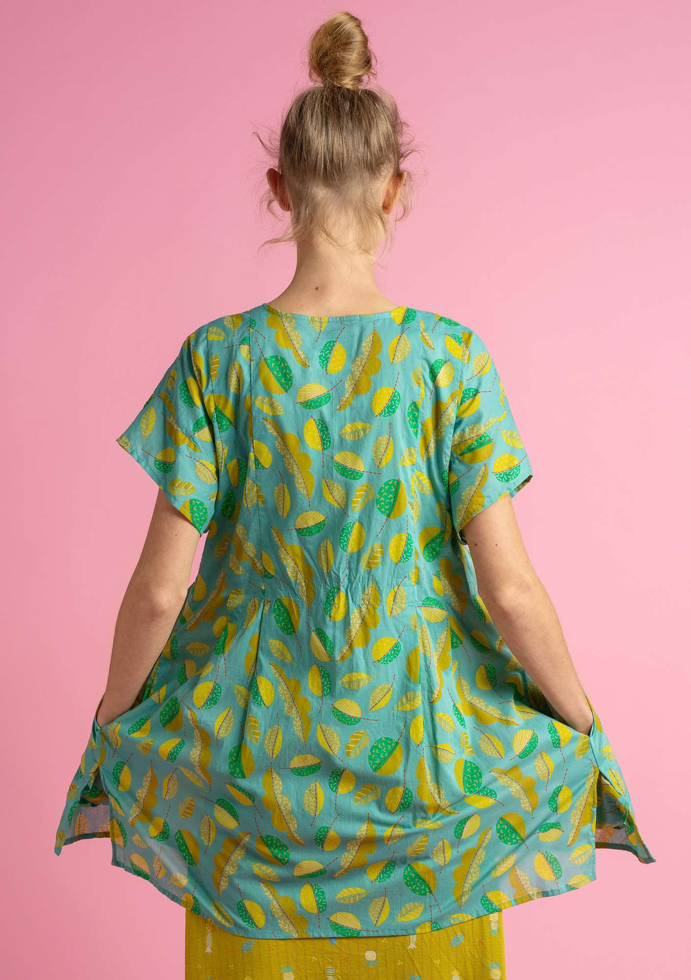 """Pepo"" tunic in eco-cotton jade"