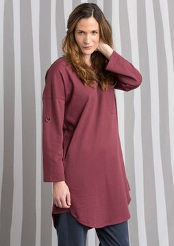 Tunic in eco-cotton beetroot