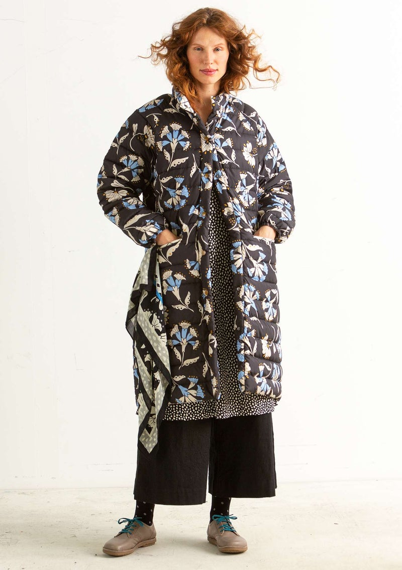 """Crocus"" down coat in recycled polyester/recycled down black"