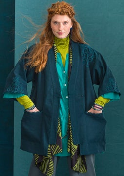 Anna robe jacket dark petrol blue